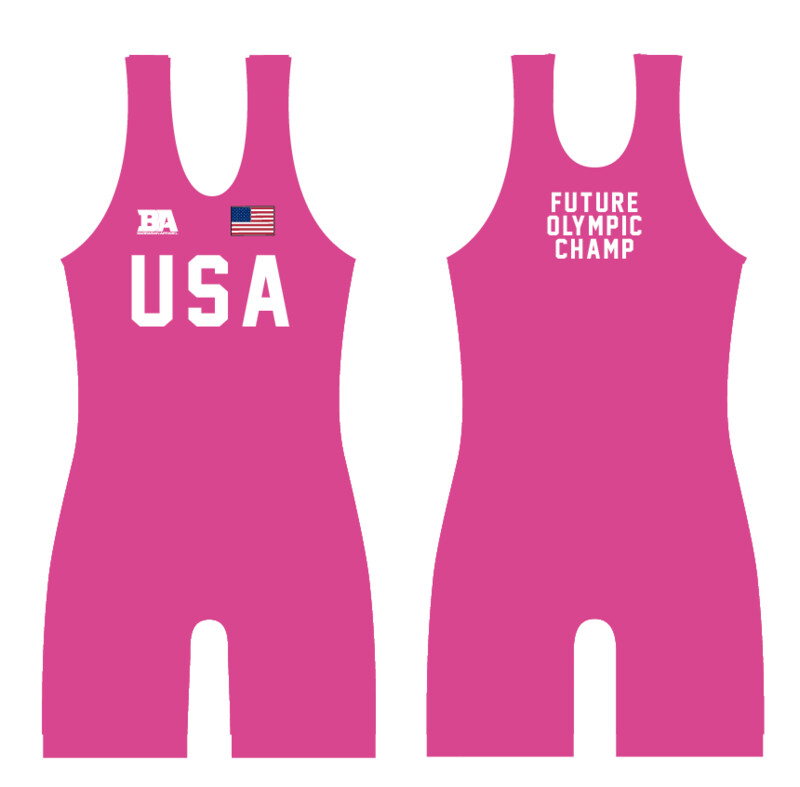 BABY PINK USA SINGLET