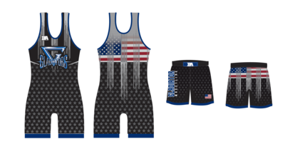 Gladiator Wrestling Singlet and Shorts Package
