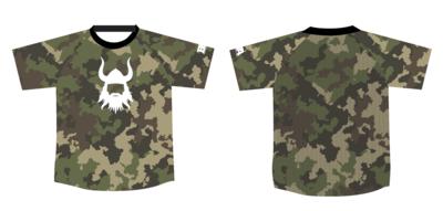 Camo Mesh Back Compression Shirt