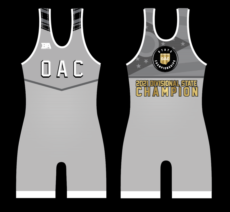 2021 OAC DIVISIONAL STATE CHAMPION SINGLET