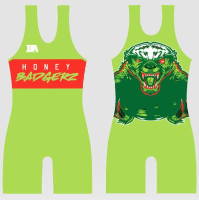 Honey Badgerz Green Singlet