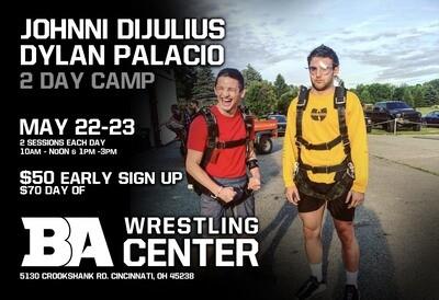 Johnni Dijulius and Dylan Palacio Camp
