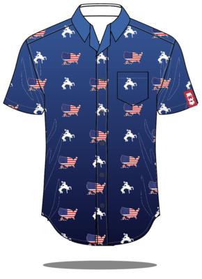 USA Button Up