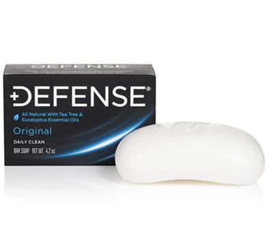 Defense Soap 4 Ounce Bar - Contains Natural Tea Tree and Eucalyptus Oil