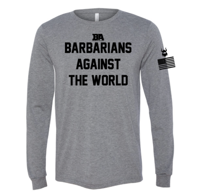 Barbarians Against The World Tri-Blend Long Sleeve