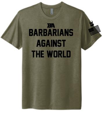 Military Green Barbarian Against The World Tri-Blend Shirt*