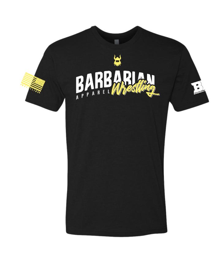 Barbarian BLACK/GOLD Wrestling Shirt