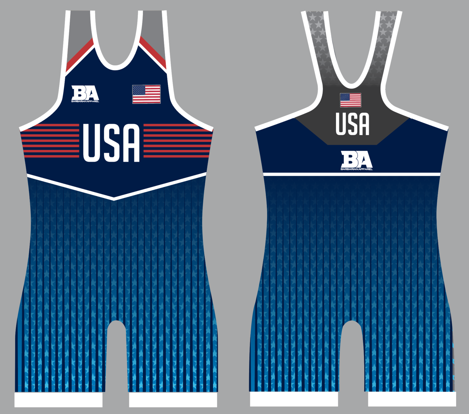 -USA NAVY WOMENS SINGLET