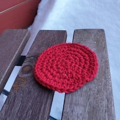 Virkattu kestovanulappu, punainen