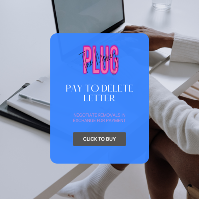 DIY Pay-To-Delete Letter