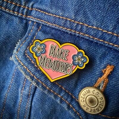 'Make Memories' Enamel Pin Badge