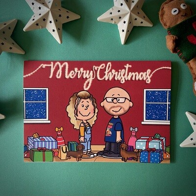 Personalised Peanuts Style Christmas Cards- A5