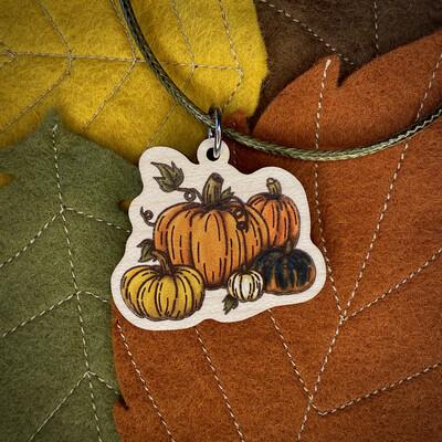Pumpkins- Wooden Charm