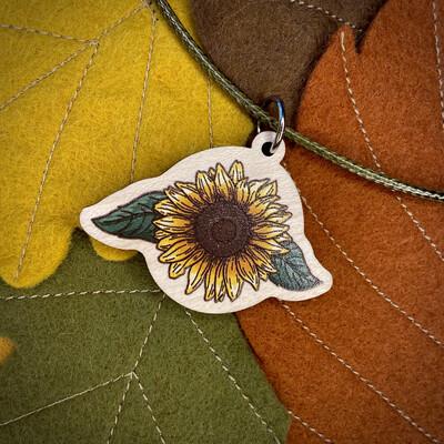 Sunflower- Wooden Charm
