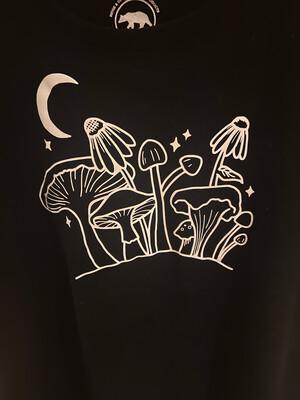 'Midnight Mushroom' design T-Shirt