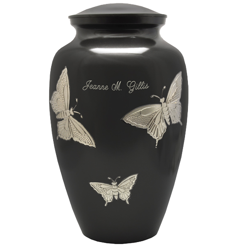 Slate and Pewter Butterflies Urn