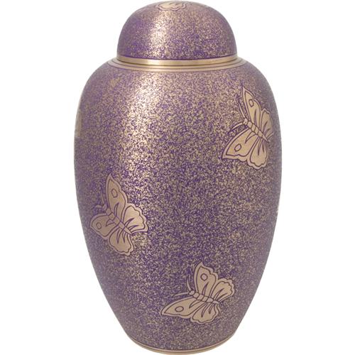 Butterflies Purple Urn
