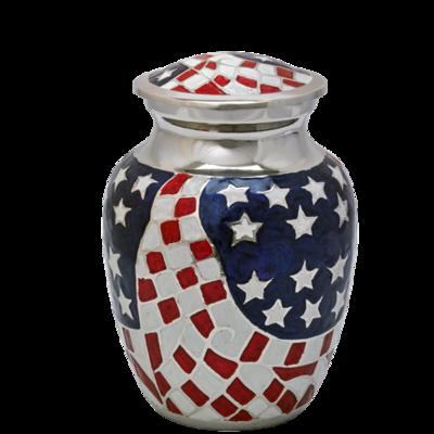American Flag Brass Sharing Urn