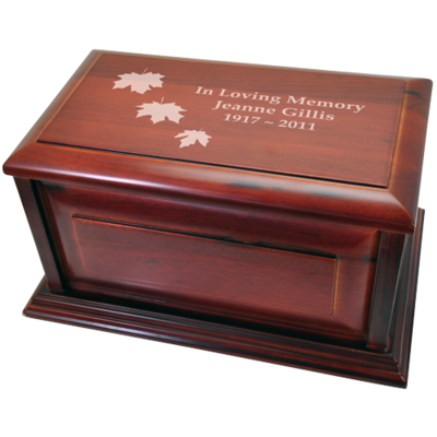 Classic Cherry Finish Wood Urn – Raised Panel