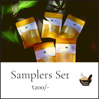Samplers Set - Bath Powders - Herbal Powders