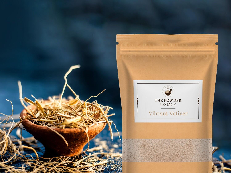 Vibrant Vetiver - 500 Grams | Herbal Bath Powder