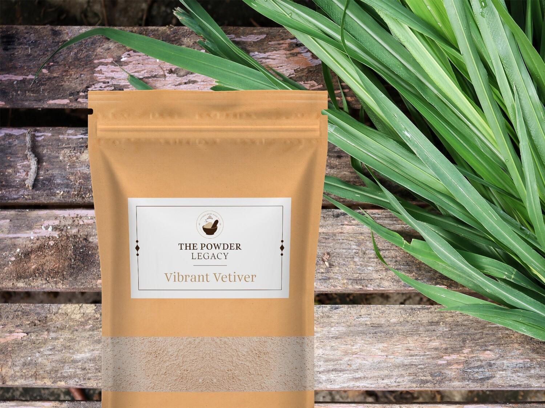 Vibrant Vetiver - 250 Grams   Herbal Bath Powder