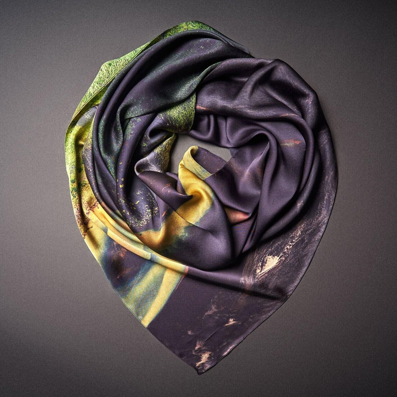 Шелковый платок «Созерцание. Спокойствие. Приятие»