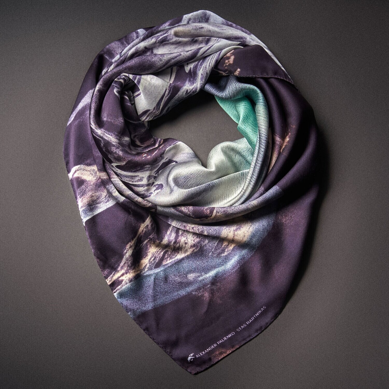 Шелковый платок «Спокойствие. Гармония. Любовь»