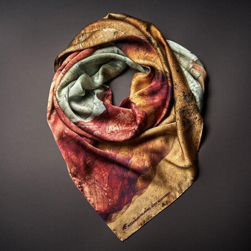 Шелковый платок «Уверенность. Сила. Внутренний потенциал»