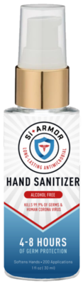 SiArmor Antimicrobial Hand Gel - 3 pack 1 ounce bottles