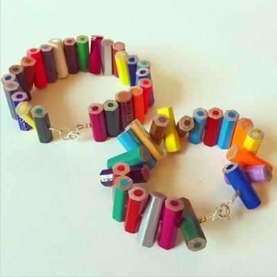 Upcycled Pencil Bracelet