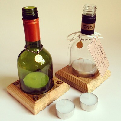 Wine Bottle Storm Lantern