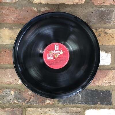 "Stretched 12"" Vinyl LP Clock - '50 All Time Broadway Show Stoppers' - Featuring Big Spender and Food Glorious Food. Pickwick Records."