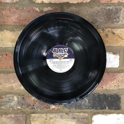 "Stretched 12"" Vinyl LP Clock - 'Original Music From Great BBC T.V. Shows' - Featuring The Likely Lads and the World Cup '74 Theme. BBC Records."
