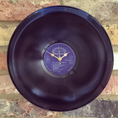 "Stretched 12"" Vinyl LP Clock - 'Top of the Pops - Volume 34'."