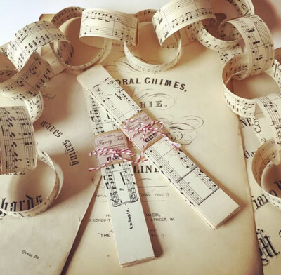 Vintage Music Paper Chain Kit (3 Metres)