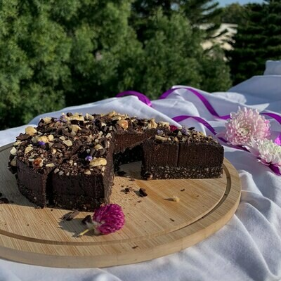 Шоколадный брауни с фундуком (без выпечки)