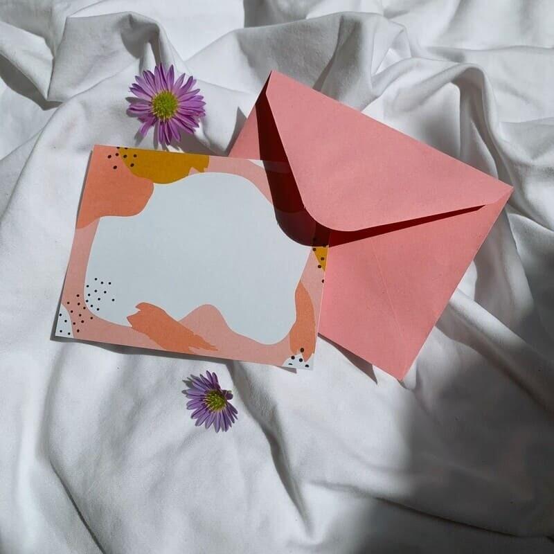 Small pink postcard
