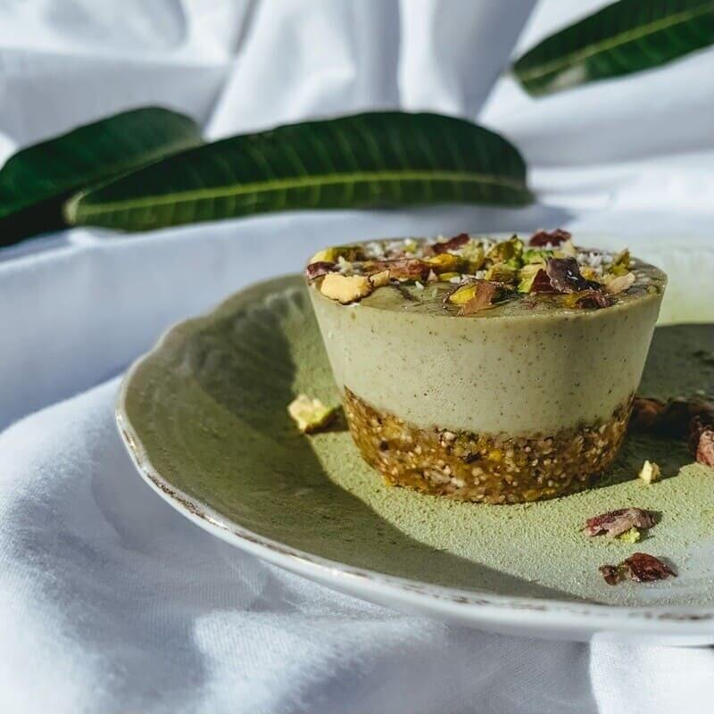 Pistachio - moringa cupcake