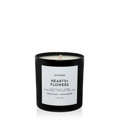 West Third Hearts + Flowers Candle