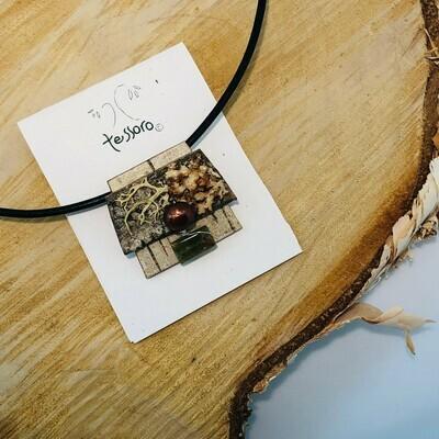 Brooch/Necklace w/ Grossular Garnet & Freshwater Pearl