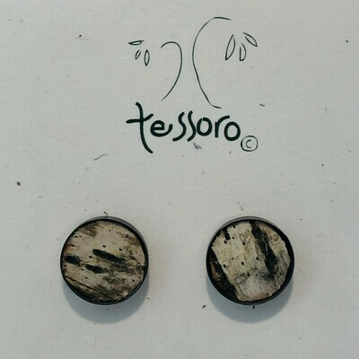 Birchbark Earrings (Oxidized Silver)