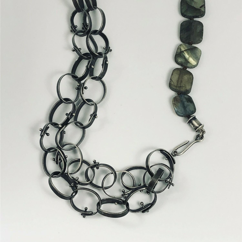 Riveted Labradorite Necklace