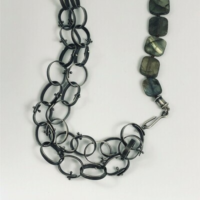 Riveted Labradorite Necklace