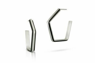 Pentagon Hoop Earrings