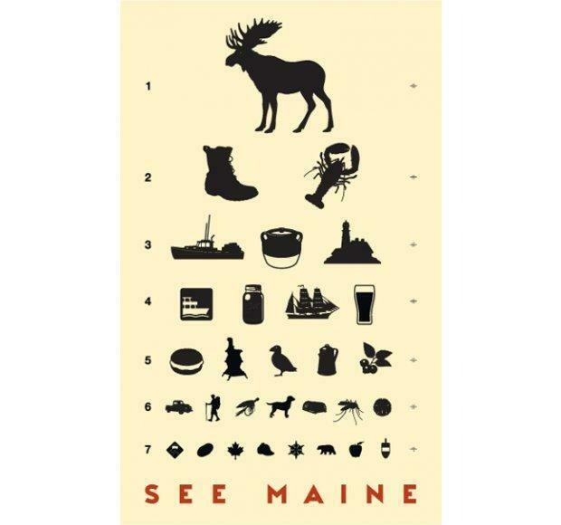 See Maine Print