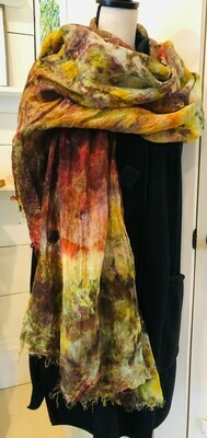 GK Autumn in Maine (overdyed) Icedyed Linen Shawl