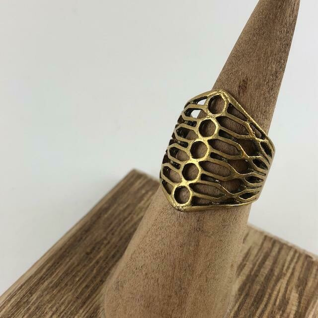 Honey Tribe Bees Wing Ring