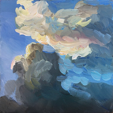 Deming Clouds at Dusk Oil Painting
