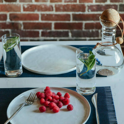 Rope Co.  Placemat Silver